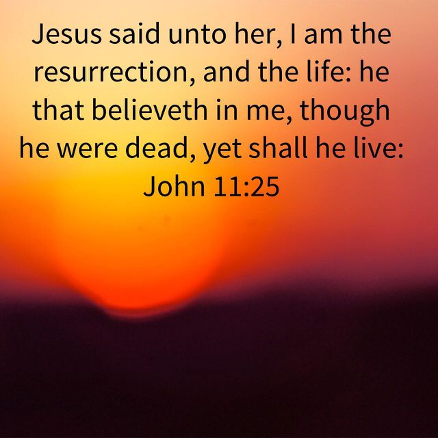 Jesus is the resurrection and the life! | Resurrection verses, Inspirational scripture ...