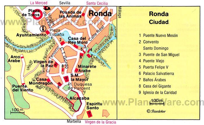 Ronda Spain Ronda Map Tourist Attractions Possible Wallpaper