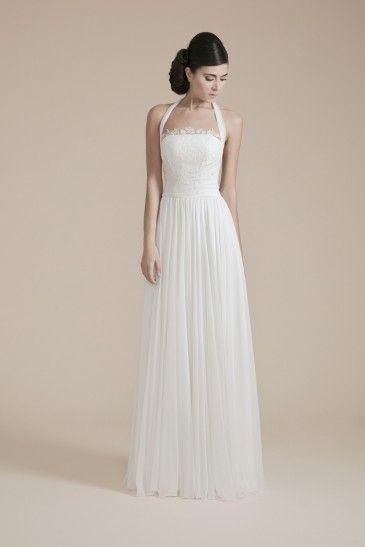 Scollatura americana e linea scivolata - abito da sposa Couture hayez