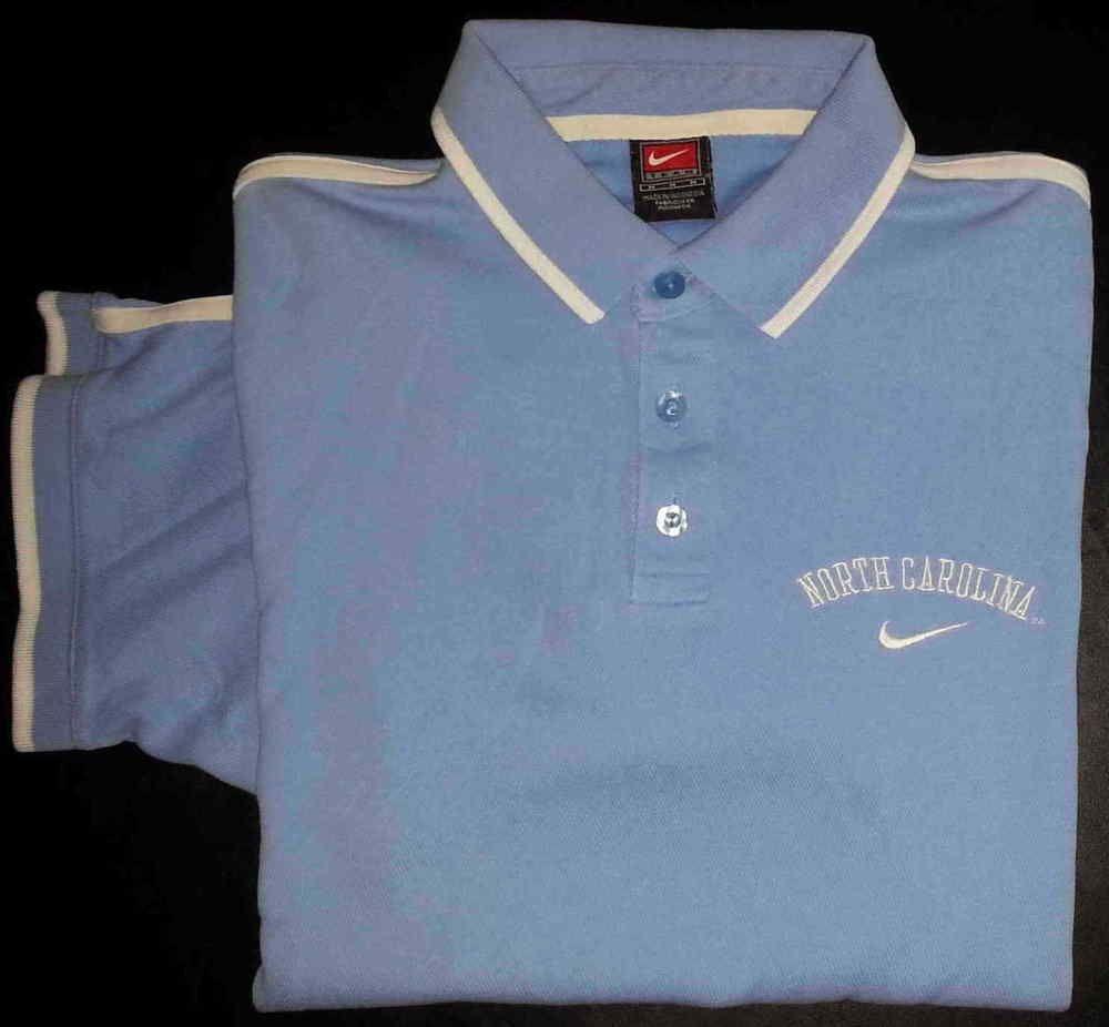 Men's Clothing Bright Nike Dri Fit Mens Polo Shirt Blue With White Trim Size Medium M