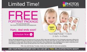 free sears portrait studio coupons
