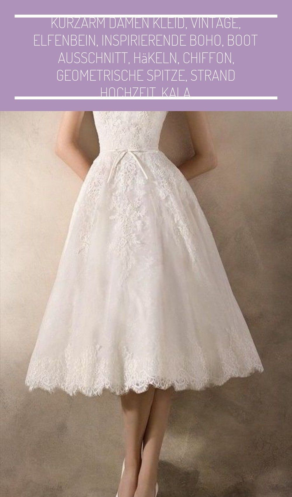 kurze weiße kleider standesamt #vestido novia vintage corto