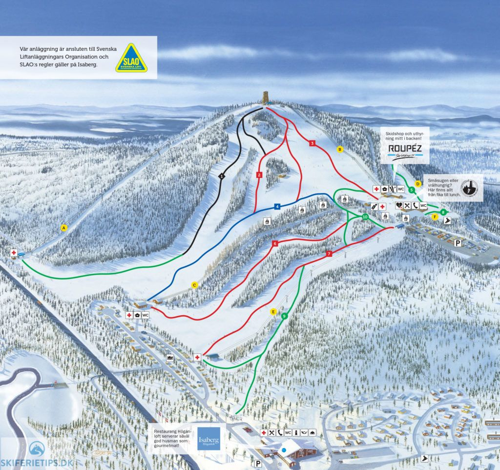 Updated Isaberg piste map 20172018 Click to see large