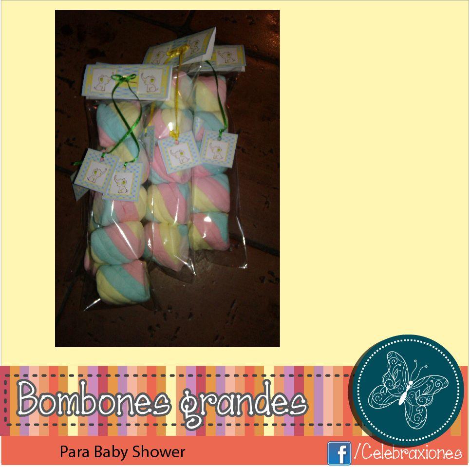 Bolsa de bombones grandes, usados para baby shower.
