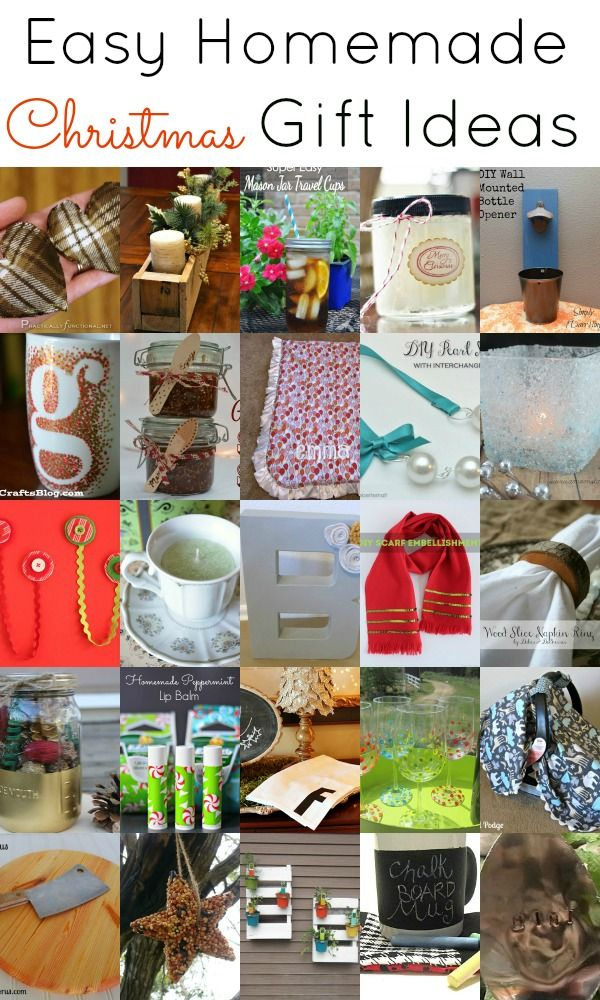 Easy Homemade Christmas Gift Ideas. Great last minute gift ideas ...