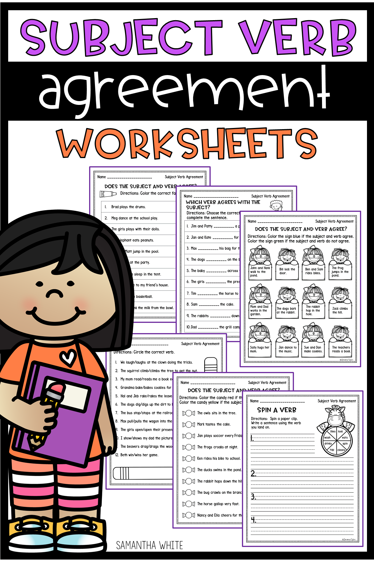 Subject Verb Agreement Worksheets With Images