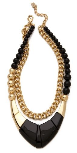costume statement necklace #goldgame