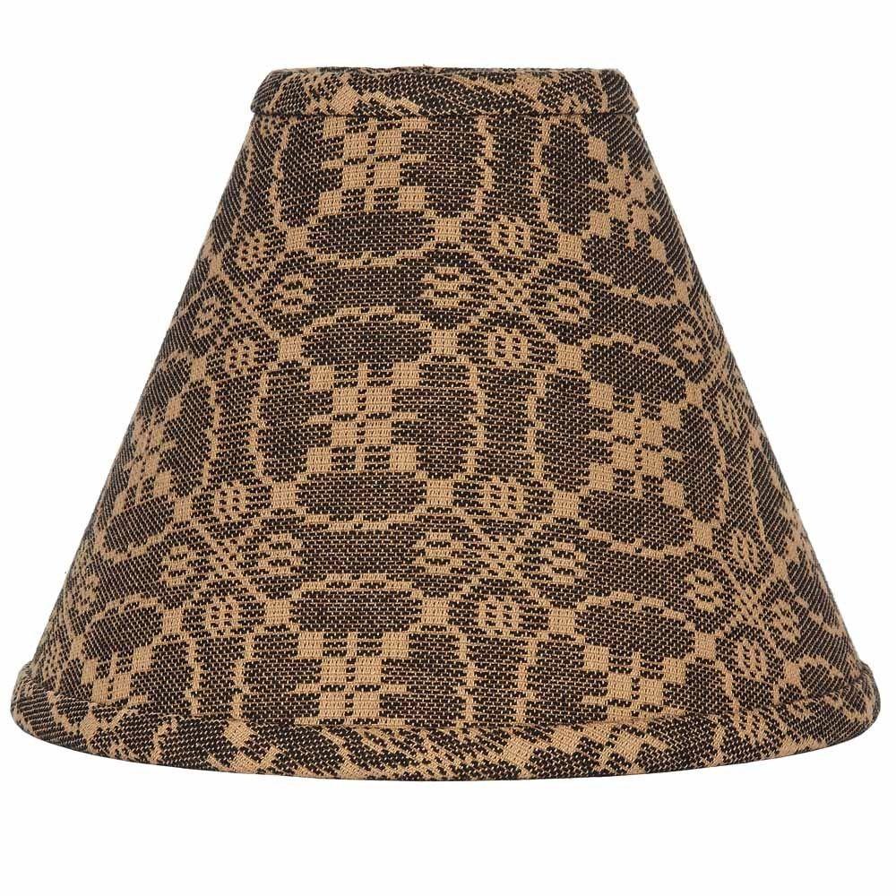 New Primitive Colonial Coverlet Tan Black Lover S Knot Lamp Shade Clip 12 Clipon Lamp Shade Black Lampshade Primitive Homes