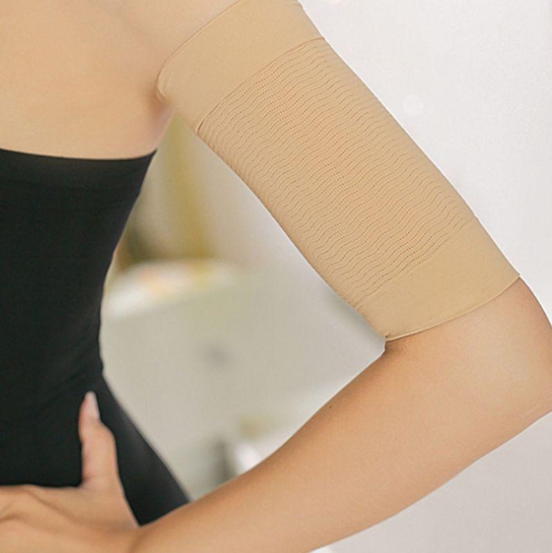2 Ladies Slimming Arm Shaper 1 Pair Cellulite Fat Burner Weight Loss Wrap Nude