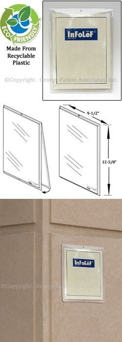 8 5 x 11 outdoor wall mount sign frame for short term use top