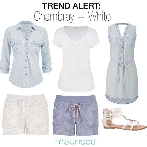 TREND ALERT: Chambray + White by maurices on Polyvore featuring maurices