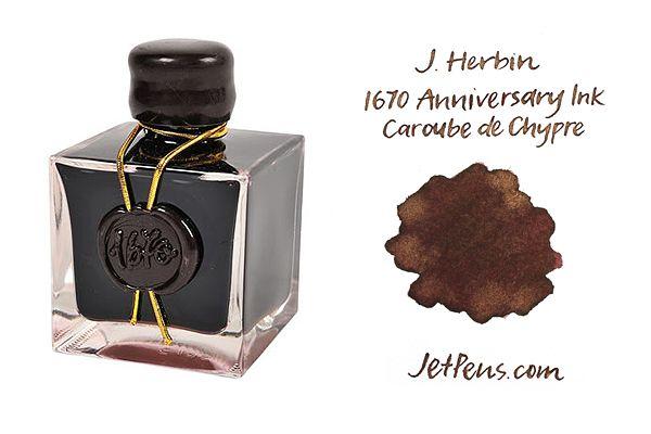 J.+Herbin+Caroube+de+Chypre+Ink+-+1670+Anniversary+-+50+ml+Bottle