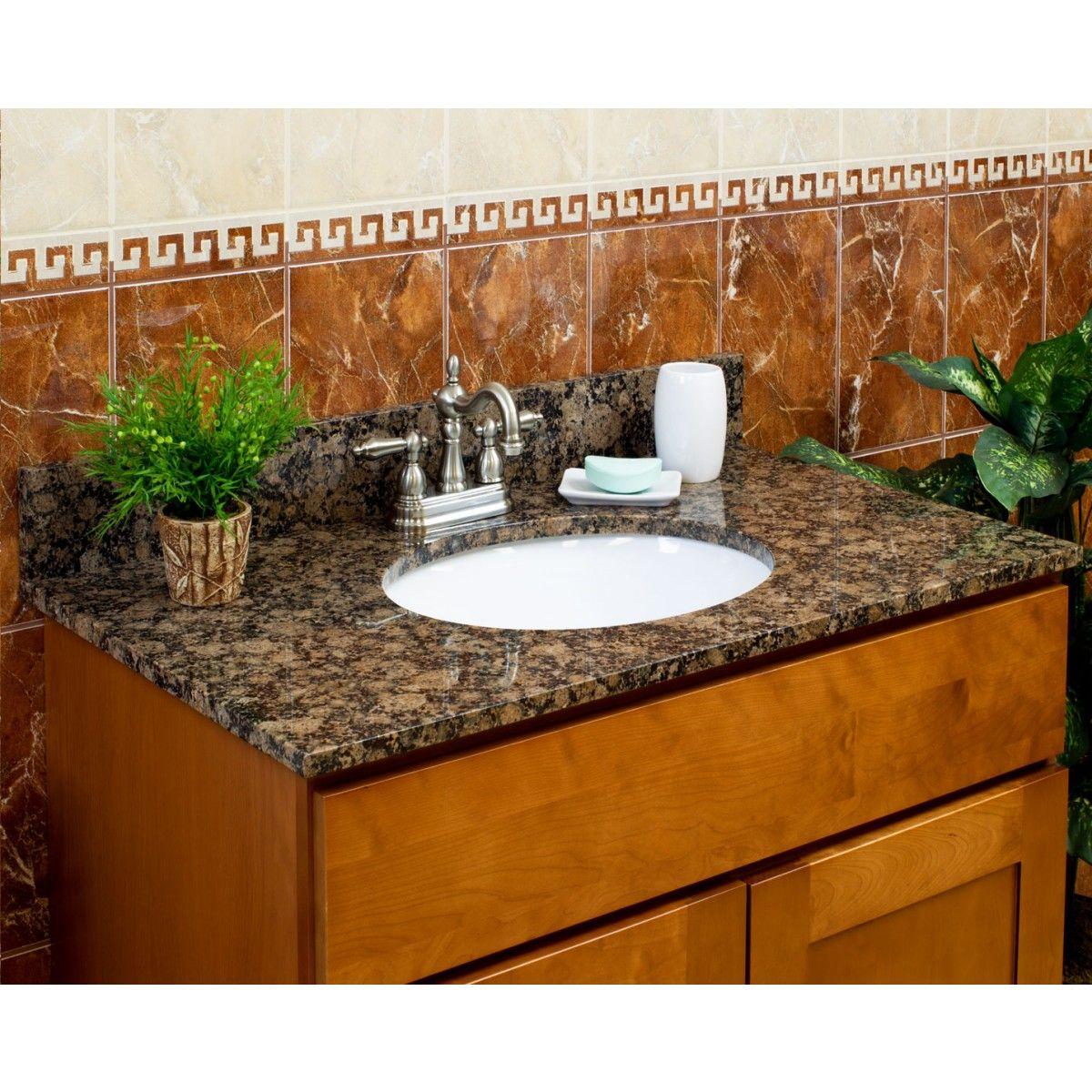 bathroom vanity granite backsplash. baltic brown granite vanity tops - bathroom backsplash