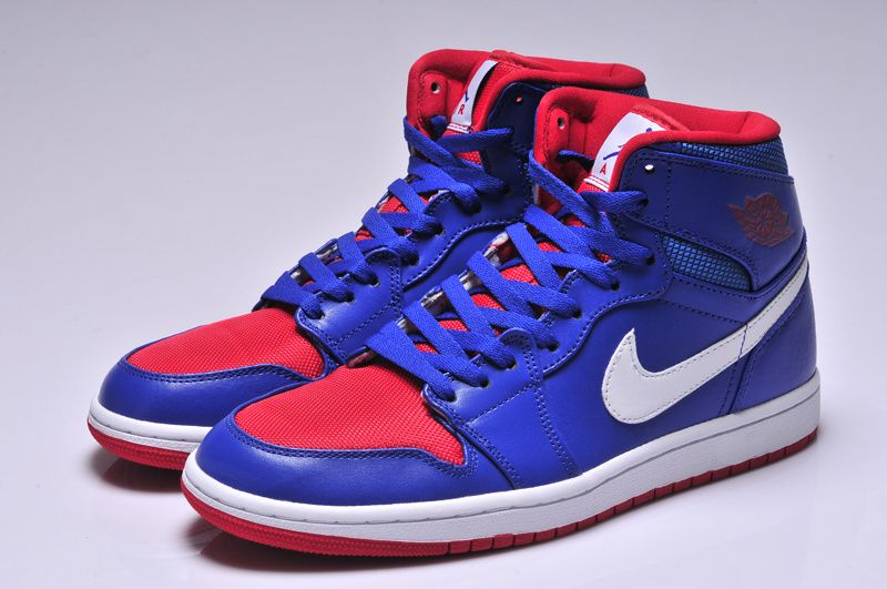 Latest Air Jordan 1 Retro High Blue Red White 01 Click Image To