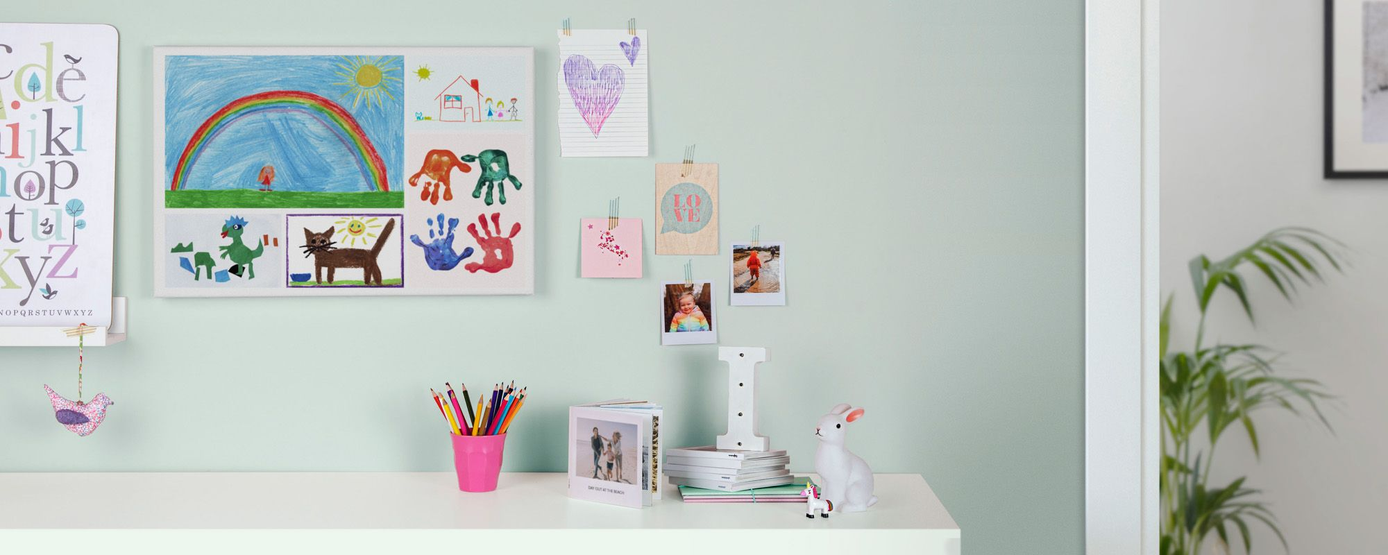 Create A Canvas With Your Child S Drawings Drawings Drawing For