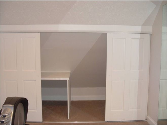 Sliding Door In Knee Wall Attic Bedrooms Remodel