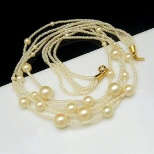 4 STRANDS OF PRETTY TRIFARI FAUX PEARLS! This lovely vintage Trifari necklace features 4 strands of faux pearls in various sizes - so romantic! $49.95 See more great vintage necklaces in my eBay store: http://stores.ebay.com/My-Classic-Jewelry-Shop/Necklaces-/_i.html?
