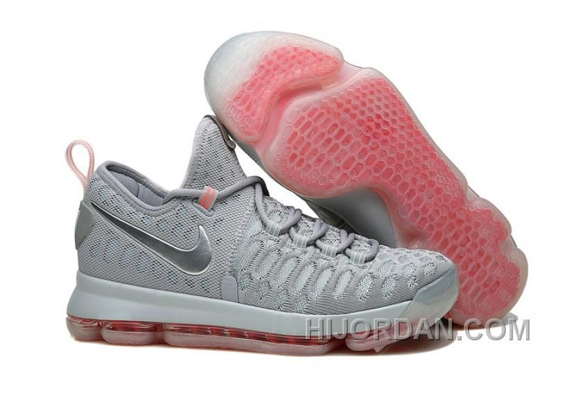 Big Discount  66 OFF Nike KD 9 Pink Black Aunt Pearl Flora Mens Basketball Shoes