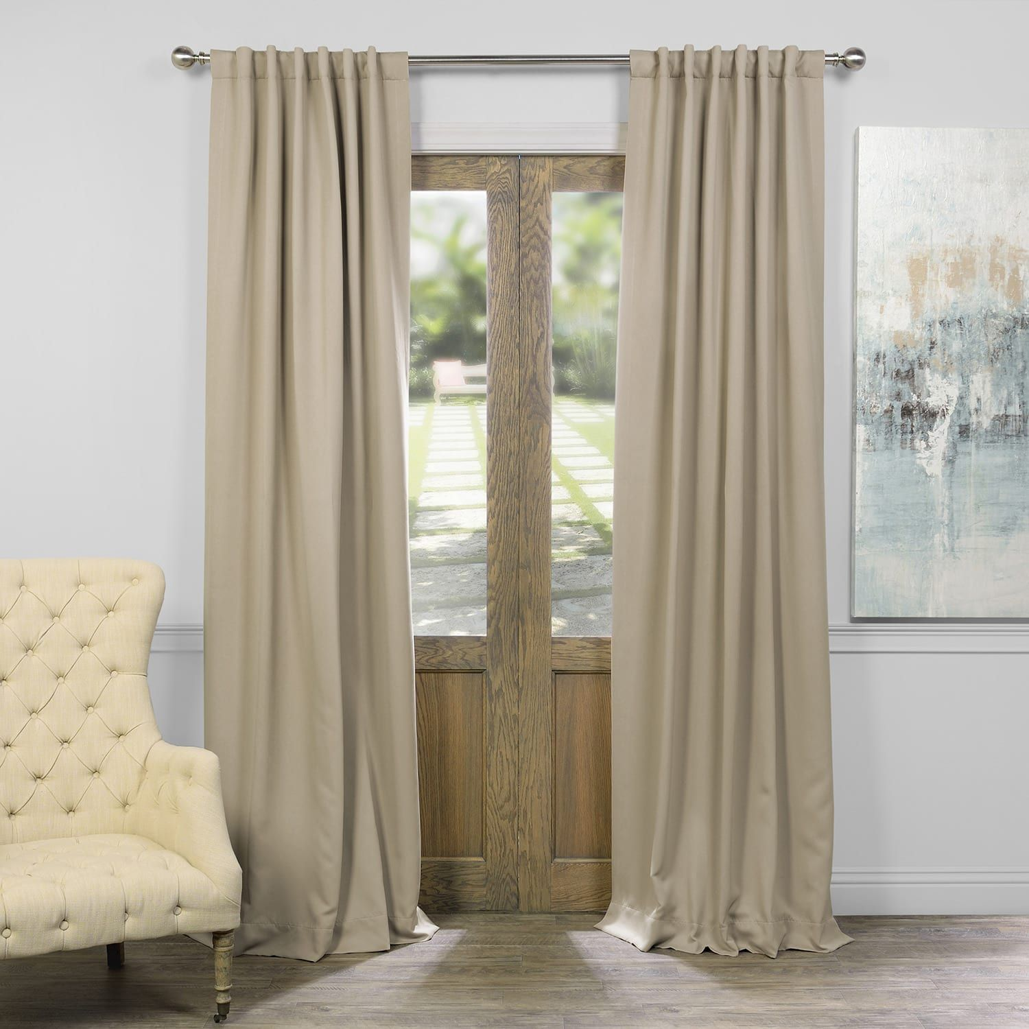 Classic Taupe Blackout Room Darkening Curtain Cool Curtains