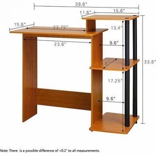Student Desk Computer Workstation Office Raise Monitor Printer Shelf Table  Hutch