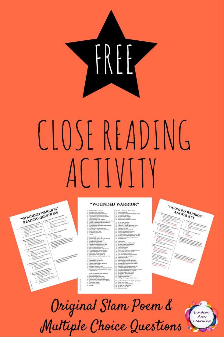 passing close reading Literary criticism/poems for close reading with questions from wikibooks,  she will feel flattered after reading the poem for the first time,.