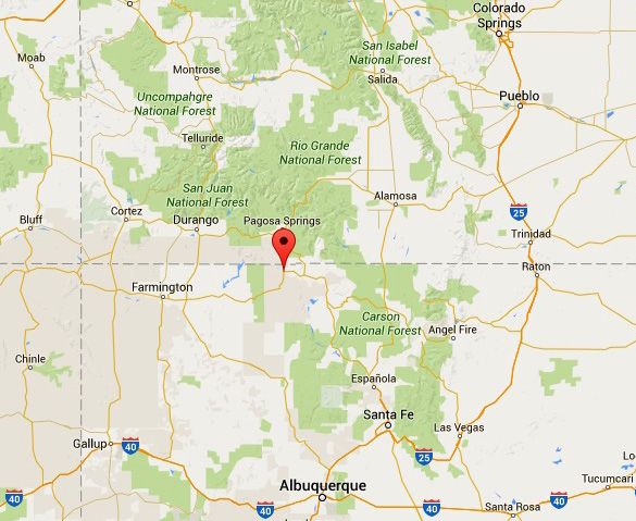 New Mexico Map Google Pin on DARK MYSTERIES