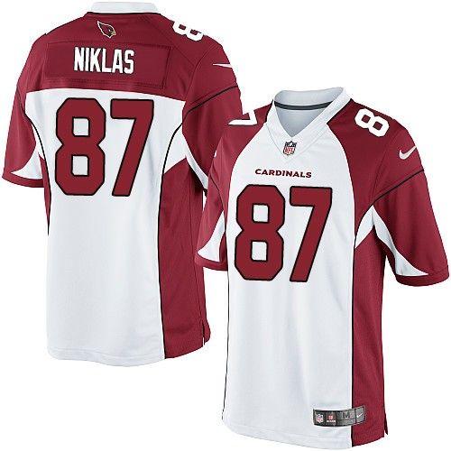 nike limited troy niklas white mens jersey arizona cardinals 87 nfl road