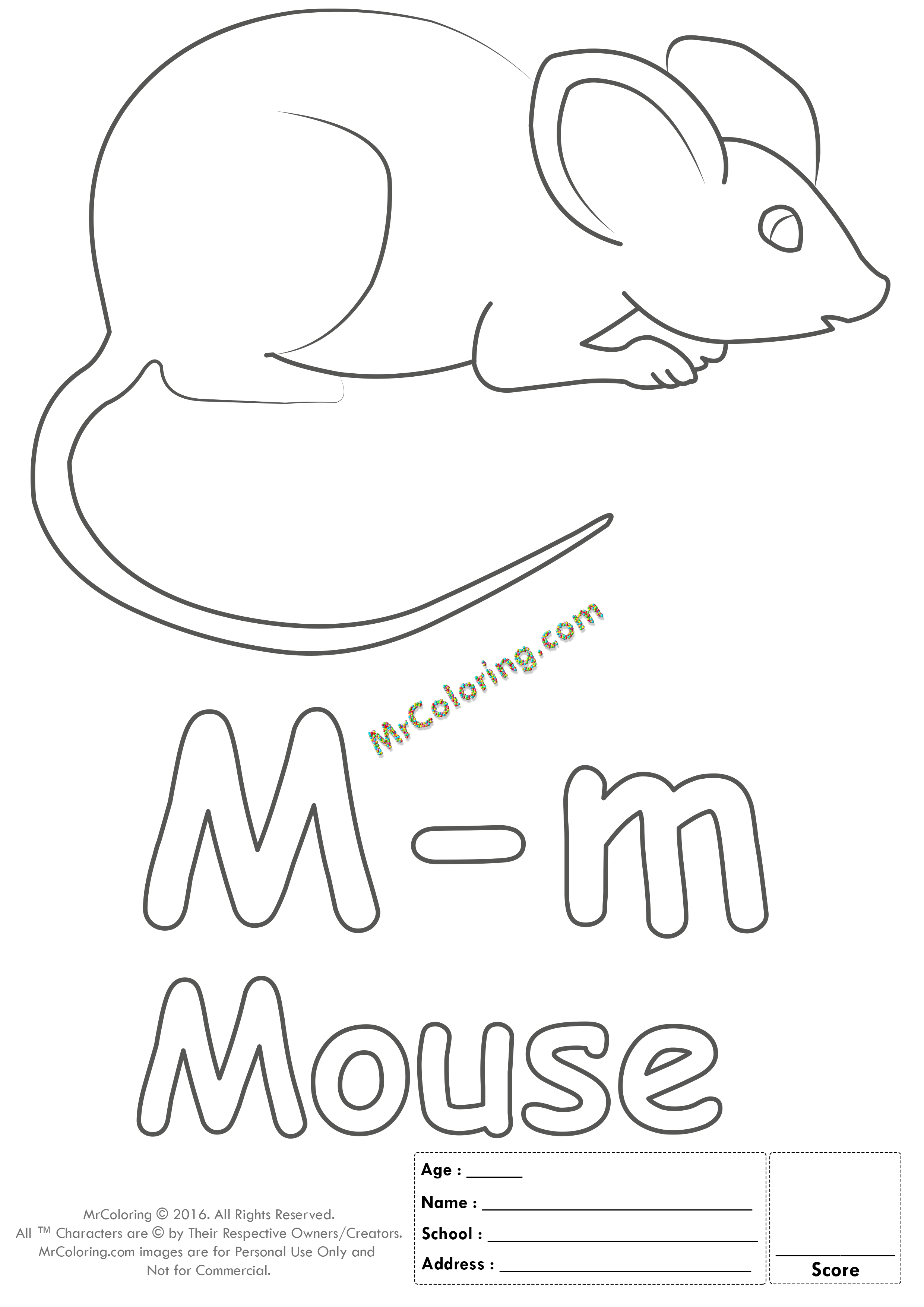 Alphabet Letter Mm Coloring Pages Coloring Worksheets