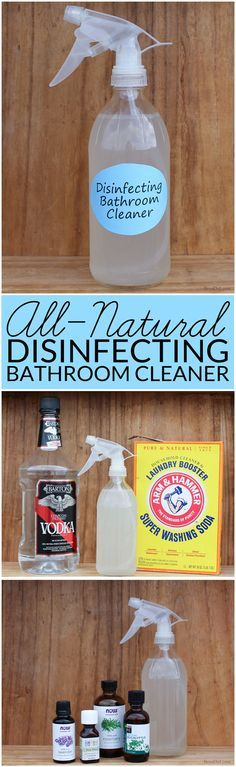 DIY cleaning products are safe effective and frugal Learn how to make AllNatural Bathroom Disinfectant Cleaner that gets your bathroom sparkling clean Green clean your ho...