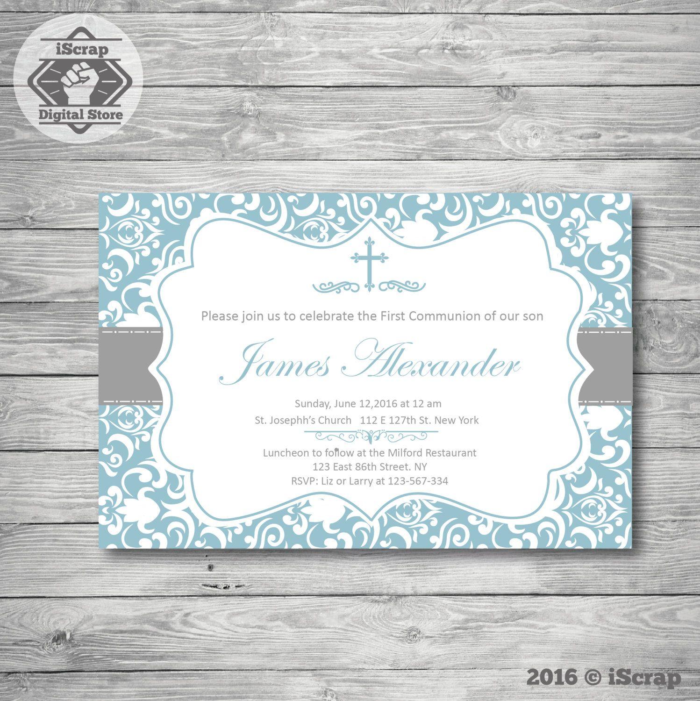 bautizo invitacin nio primera comunin bautizo invitacin de bautismo para imprimir de invitacin nio invitacin