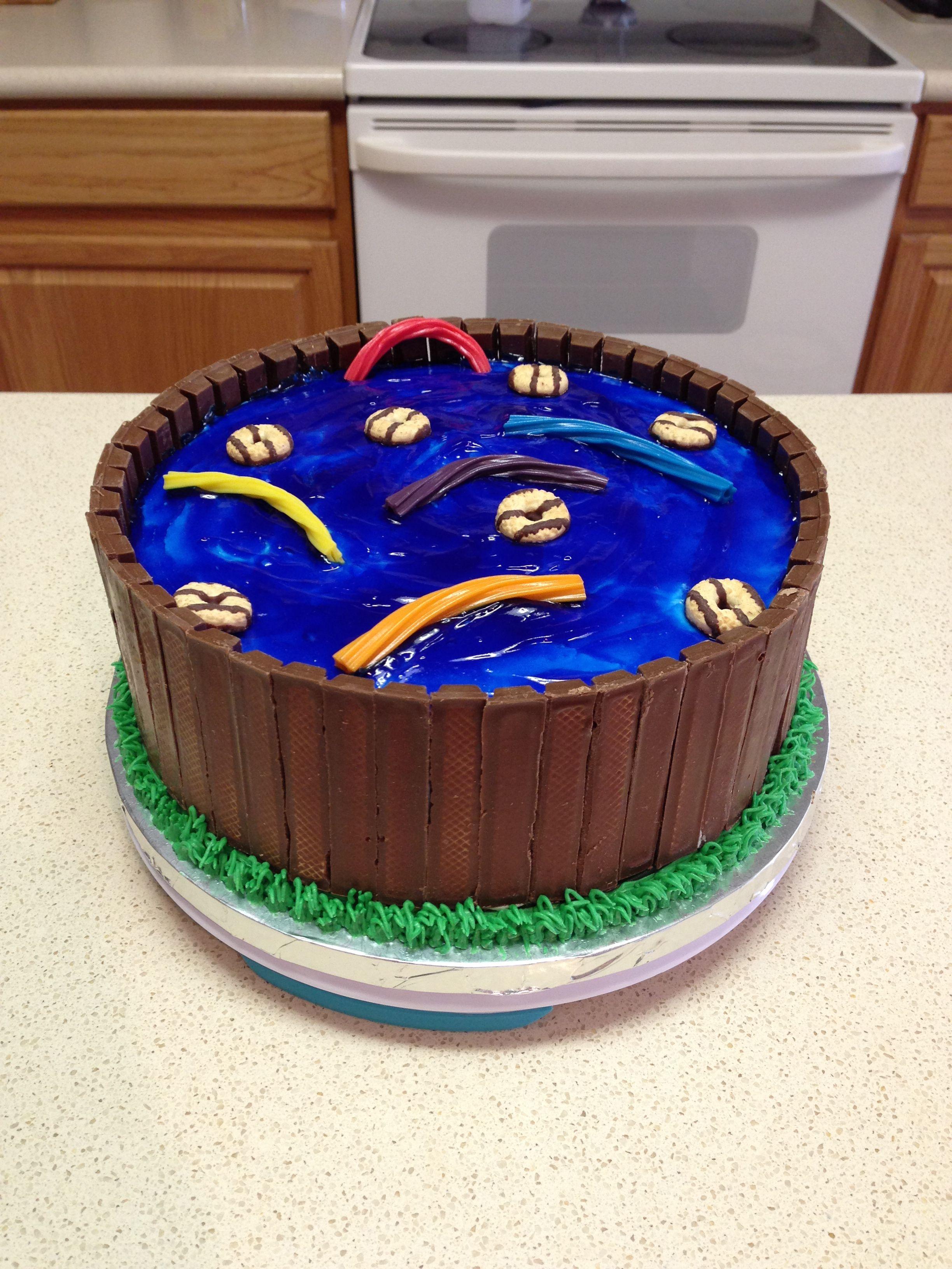 Swimming pool cake Cupcake cakes, Birthday cake kids