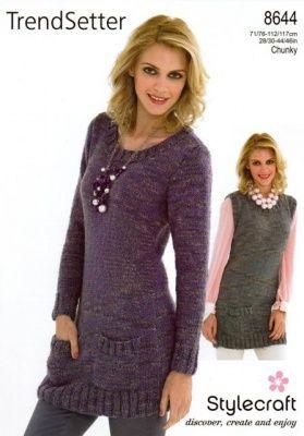 c181b7d624700c Knitting Pattern - Stylecraft 8644 - Trendsetter Chunky - Sweater   Slipover