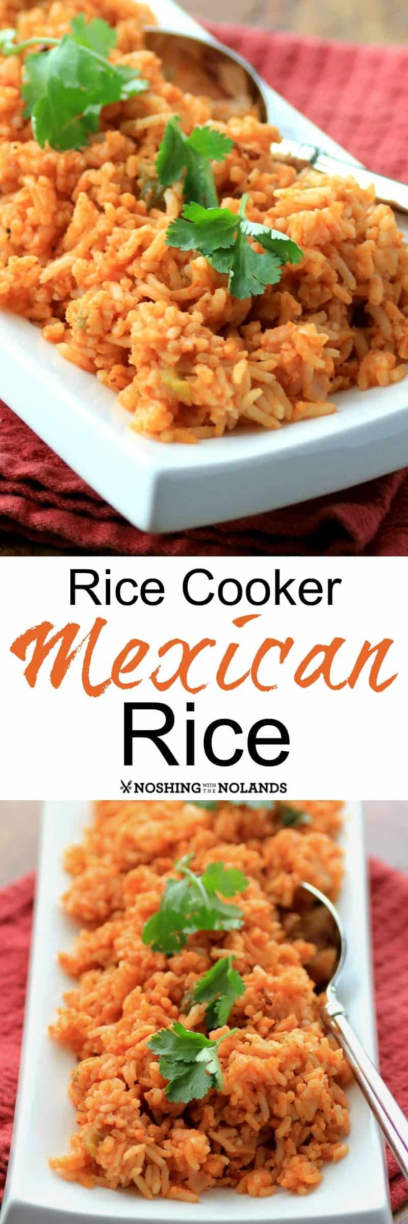A very easy Mexican side dish that cooks up in your rice cooker. #rice #Mexican #sidedish # ricecooker #ricecookermeals