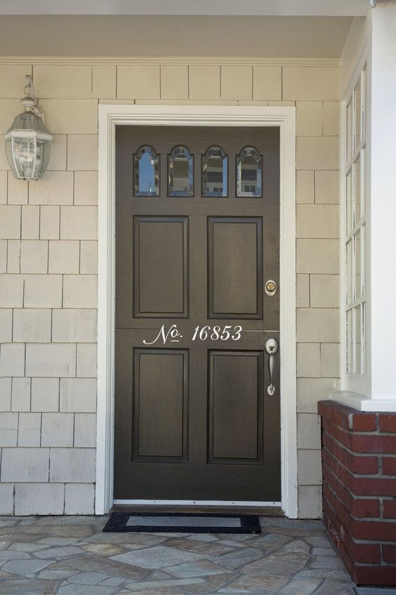 Pin By Megan Dailey On How Does Your Garden Grow House Number Decals Doors Front Door Decal