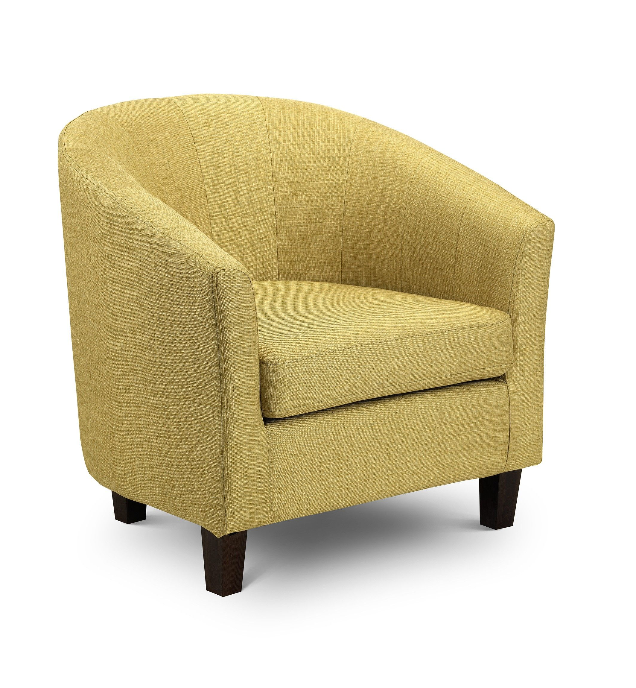 TUB OCCASIONAL CHAIR IN MUSTARD FABRIC