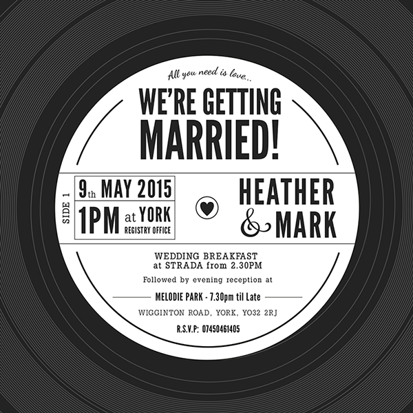 Vinyl Record Wedding Invitation on Behance My wedding Pinterest
