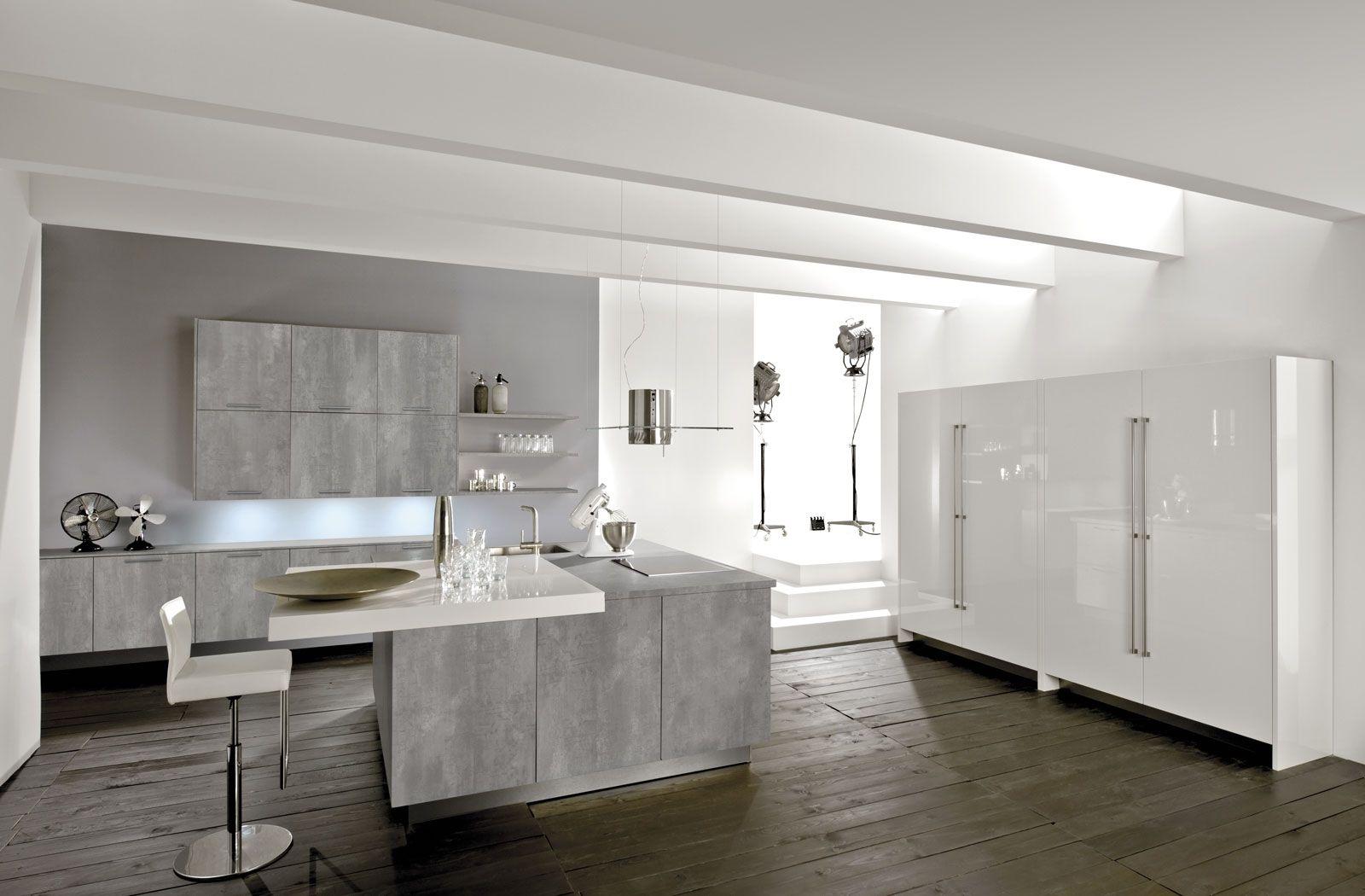 Moderne küchen weiss grau  systemat/ART - Häcker Küchen | Home | Pinterest | Häcker küchen ...