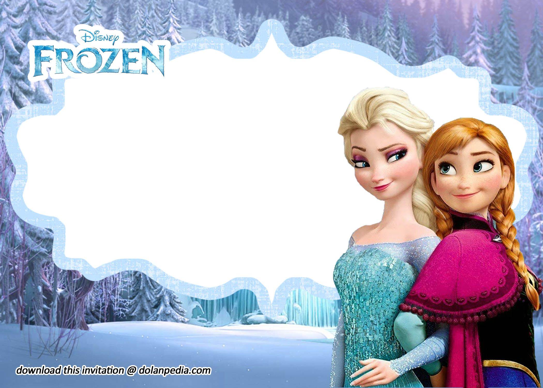 Free Printable Disney Frozen Invitation Templates Frozen Invitations Disney Frozen Invitations Frozen Invitation Template