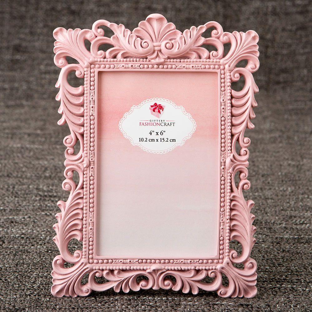 Elegant Pink Quartz 4 x 6 Baroque Frame | Wedding Place Card Holders ...