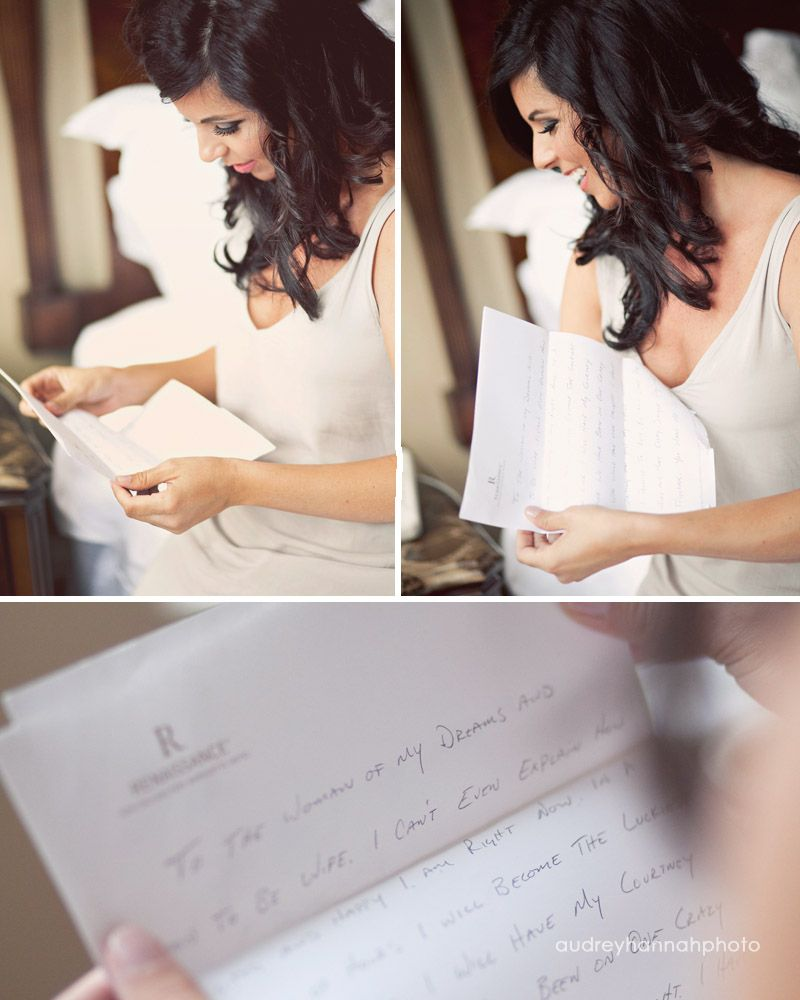Bride And Groom Write Letters For Each Other On The Big