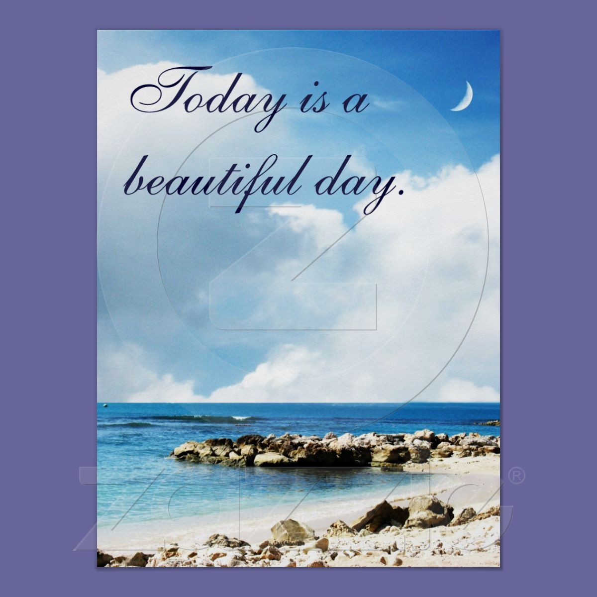 It's a Beautiful Day Coastline Ocean Poster from Zazzle.com