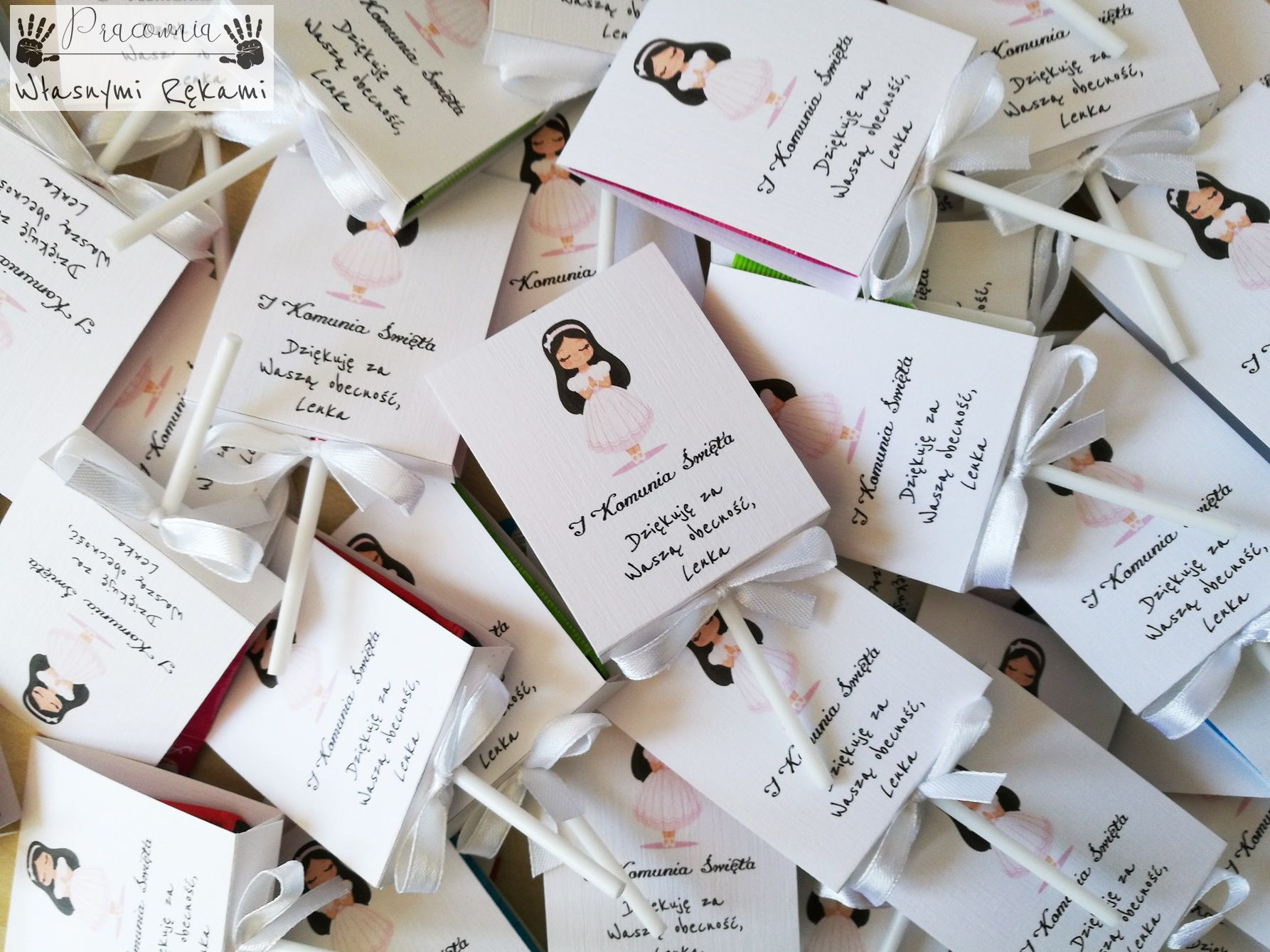 Podziekowania Dla Gosci Komunia Place Card Holders Place Cards Cards