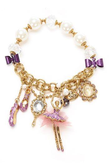 Betsey Johnson Tzar Ballerina Charm Stretch Bracelet