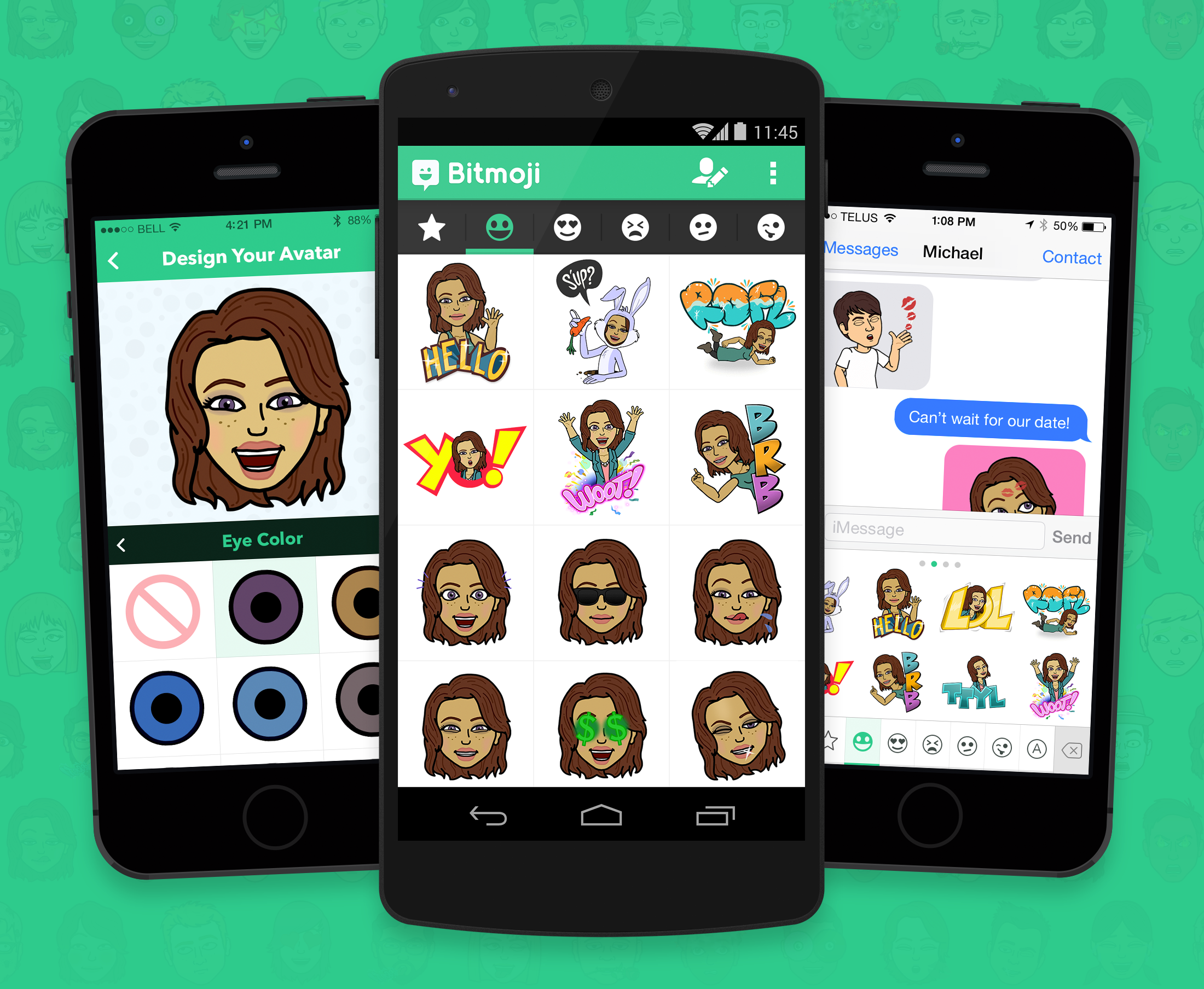 Bitmoji hi Emojis, Apps, Aplicacion movil