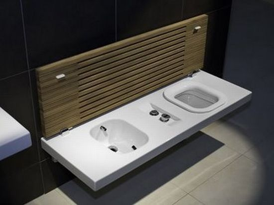 Bench toilet/ bidet combo wouldn\'t need the bidet (would be better ...