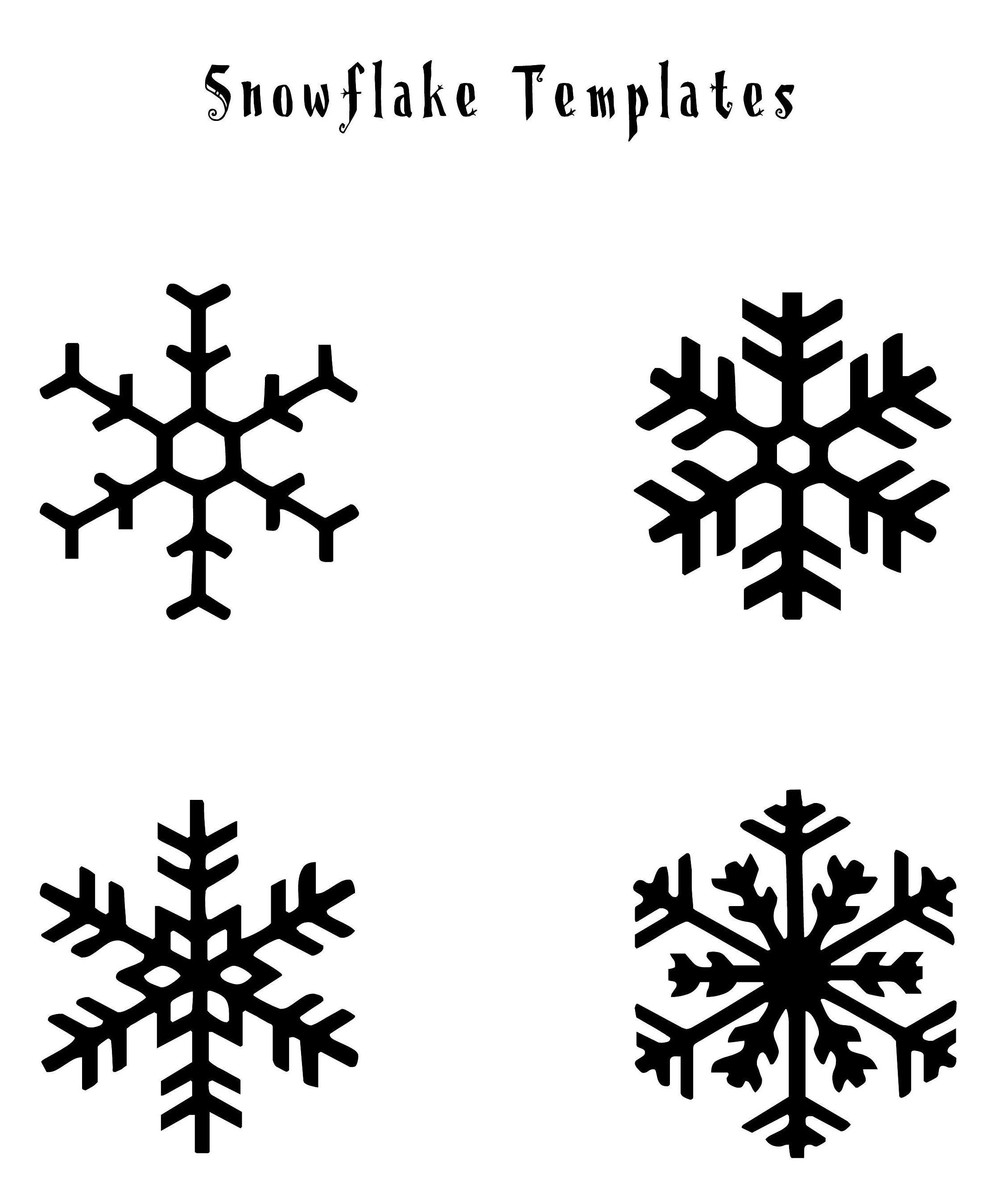 snowflake method template - free printable snowflake templates google search 1st