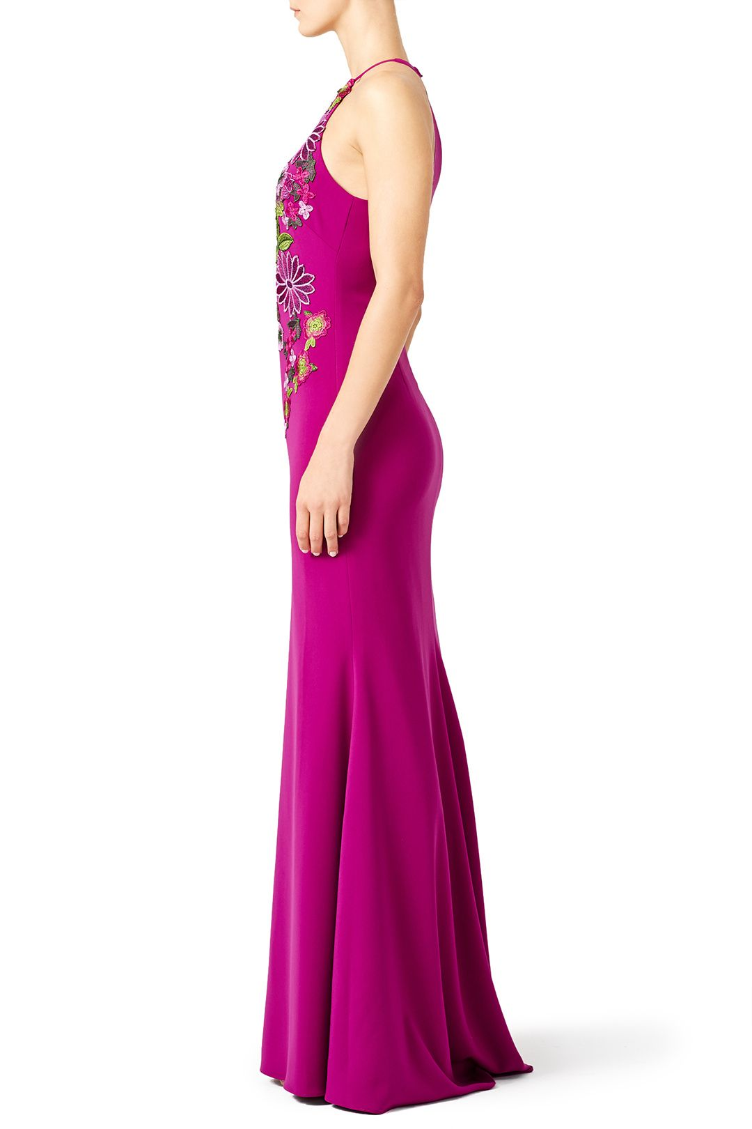 Pink Flower Power Gown by Badgley Mischka | fly | Pinterest
