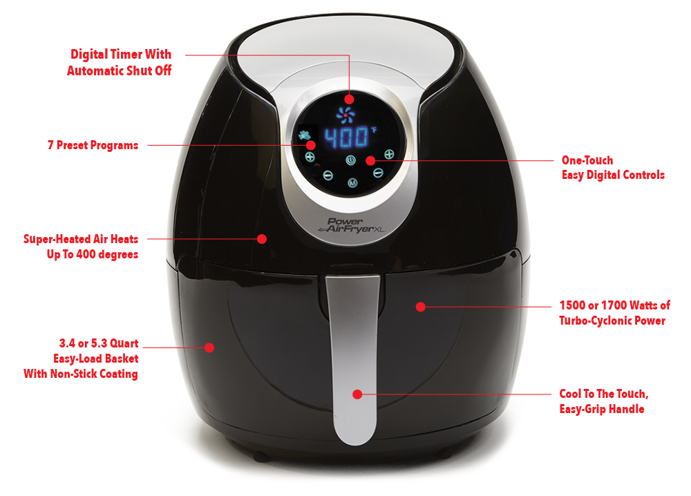 Power AirFryer XL Features Power AirFryer XL™ Power