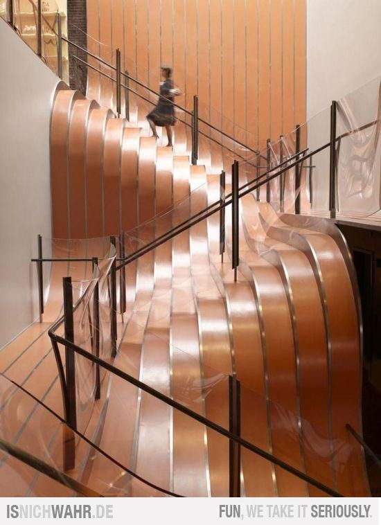 This Landscape Staircase Was Designed By ThomasHeatherwick Of  HeatherwickStudio For A Longchamp Store In NY. Via  Stairs, Contemporary,  Unique