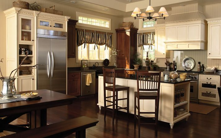 traditional country kitchen cabinets Just Cabinets Furniture